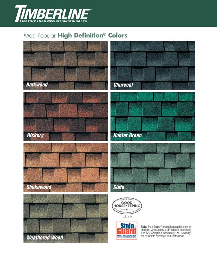 Shingle colors roofing contractor in south jersey djk roofing